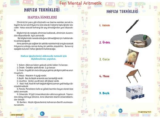 Mental Aritmetik Hızlı Okuma Hafıza Teknikleri Yayınlarımız ve Eğitim Setleri - Fen Mental Aritmetik