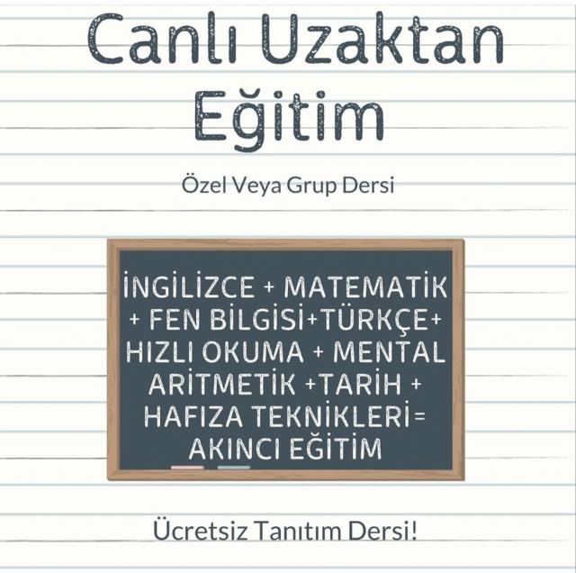 pendik özel ders ingilizce mental aritmetik - Fen Mental Aritmetik